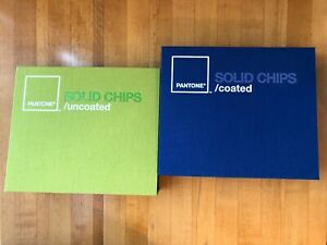 Pantone Solid Coated And Uncoated Chips Books 2006 Used great Condition