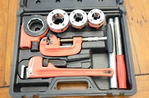 Rothenberger Pipe Threader Kit 70614 Used Incomplete Missing Pliers