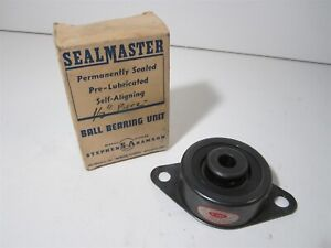 Sealmaster srf 8 1 2 Bore 2 bolt Rubber Mount Steel Housing Flange Bearing