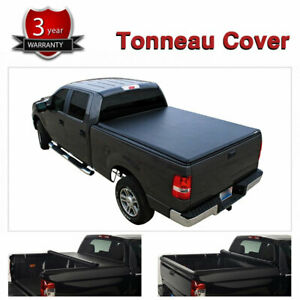 Truck Bed Cover 5ft Tonneau Cover Soft Roll Up Vinyl Fit Toyota Tacoma Sr5 light