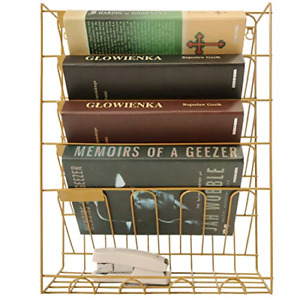 File Rack Hanging Wall File Organizer Metal Mesh Wall Magazine File Wall Holder