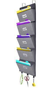 Door Hanging File Organizer Wall Mounted Office Supplies Storage Holder Pocket