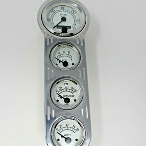 Vdo Gauge Cluster Cockpit White Chrome Speedometer Fuel Oil And Volts Panel