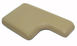 Fits 00 06 Ford Ranger Beige Real Leather Console Lid Armrest Cover Wcup Holder