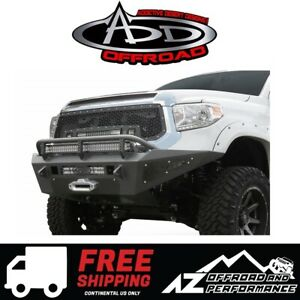 Add Honeybadger Winch Front Bumper For 2014 2019 Toyota Tundra