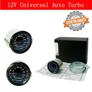 12v 2 52mm Auto Car Turbo Boost Gauge Vacuum Press Meter 0 30in Hg 0 35psi