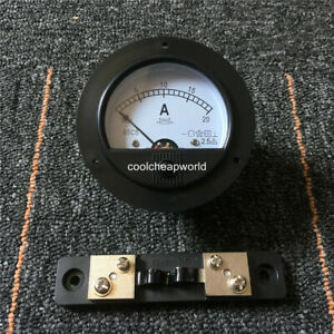 Analog Amp Panel Meter Current Ammeter Dh670 Dc 100ma 5a 10a 15a 20a 30a To 500a