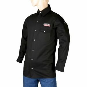 Lincoln Electric Black Xx large Flame Resistant Cloth Welding Shirt Brand New