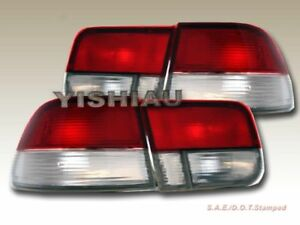 Fit For 1996 2000 Honda Civic 2d Oem Red Clear Taillights 98 99
