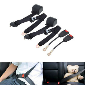 1 Pair Adjustable Retractable 3 Point Auto Car Seat Belt Lap Universal Seatbelt