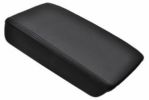 Fits 03 07 Honda Accord Black Real Leather Center Console Lid Armrest Cover
