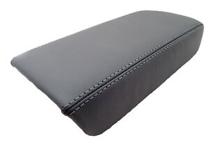 Fits 03 07 Honda Accord Dark Gray Real Leather Center Console Lid Armrest Cover