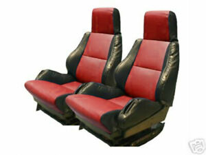 Chevy Corvette C4 Sport Type5 1984 1993 Black Red S Leather Custom Seat Cover