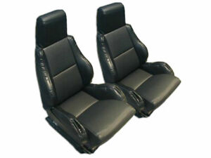 Chevy Corvette C4 Sport Type5 1984 1993 Black S Leather Custom Fit Seat Cover