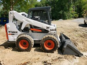 2016 Bobcat S650 Skid Steer Wheel Loader Rubber Tire Kubota Tractor Aux Hyd