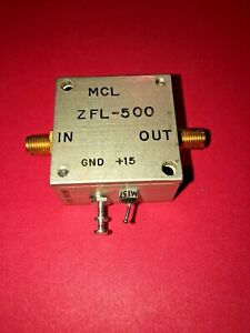 Mini circuits Zfl 500 10 To 500 Mhz Sma Coaxial Low Noise Amplifier