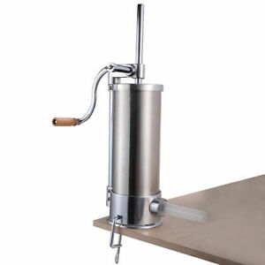 6l Sausage Stuffer Maker Meat Filler Stainless Steel Commercial Restaurant 10lb