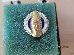 Vintage Coca-Cola 10K Gold Employee 5 Year Service Award Pin-1 Ruby? Pink Stone