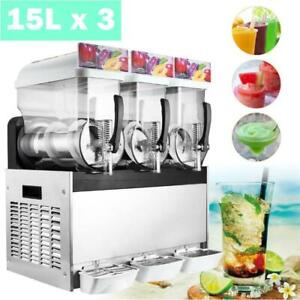 3 Tank 45l Commercial Frozen Drink Slush Ice Machine Margarita Slushy Maker