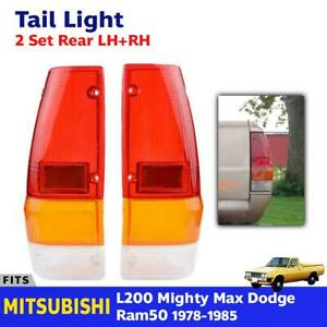 Tail Light Lens Rear Lamp Cover Made For Mitsubishi L200 Dodge Ram 50 1979 1982