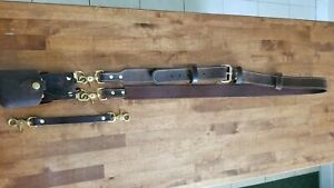 Leather Firefighter ems Radio Strap