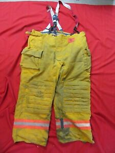 Morning Pride Firefighter Turnout Bunker Pants 48 X 31 Fire Gear Suspenders