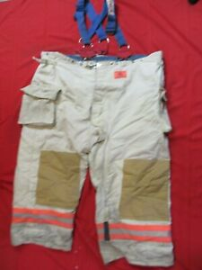 Morning Pride Firefighter Turnout Bunker Pants 62 X 28 Fire Gear Suspenders