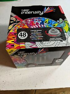 Bic Intensity Metallic fine ultra Fine Markers Reusable Spinning Storage Tower