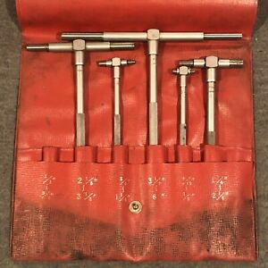 Mitutoyo Telescoping Gage Set 5 Gages Missing One used Free Ship 155 903