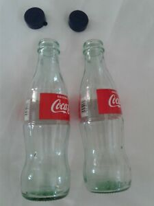 COCA COLA SALT AND PEPPER SHAKERS (1 Pair of 8FLoz  Bottles with Caps )