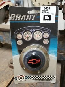 Grant 5660 Horn Button Bowtie Logo Black Red Grant Signature Series Wheels New