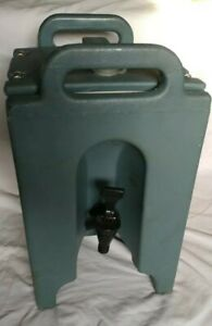 Cambro Blue Insulated Coffee Tea Hot Cold Beverage Dispenser Server Catering