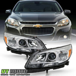 2013 2014 2015 Chevy Malibu Halogen Projector Headlights Headlamps Left Right