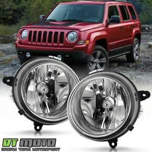 2007 2017 Jeep Patriot 2007 2010 Compass Chrome Headlights Lamps Replacement Set