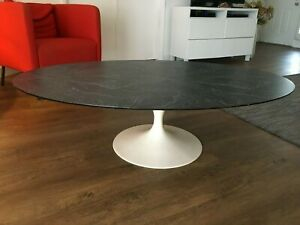 Knoll Saarinen Model 166 167 Large Oval Tulip Coffee Table With Formica Top