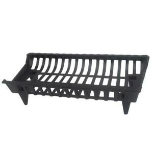 27 Cast Iron Fireplace Grate Durable Firewood Fire Pit Wood Burning Heavy Duty