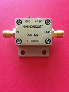 Mini circuits Zjl 6g 20 To 6000 Mhz 6 Ghz Rf Broadband Coaxial Amplifier
