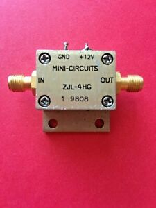 Mini circuits Zjl 4hg 20 To 4000 Mhz 4 Ghz Rf Broadband Coaxial Amplifier