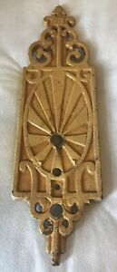 Antique Vintage Art Deco Nouveau Ornate Tan Light Fixture Wall Sconce Cast Iron