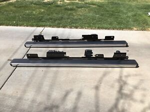Gm Silverado sierra Power Running Boards Articulating Tri mode Steps 2014 2018