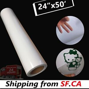 24 x50ft Press Transfer Clear Tape Roll Lay Flat For Sign Banner Craft Vinyl