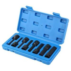 1 2 Drive Impact Socket Hex Bits 8pc Metric Set Long Air Allen Driver 6 19mm