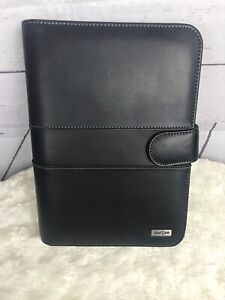 Franklin Covey Day One 7 Ring Planner Black 7 X 10 Binder Inserts Complete