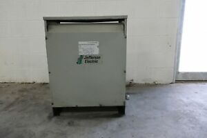 jefferson Electric 3 Phase 480v 208y 120 Dry Type Transformer