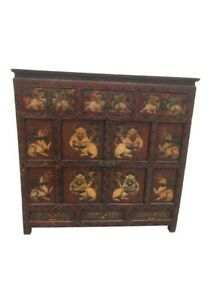 1900s Asian Wooden Chest Of Drawers