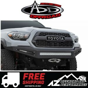Add Honeybadger Winch Front Bumper For 2016 2021 Toyota Tacoma