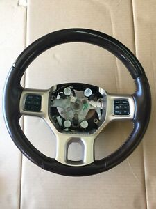 2013 2018 Dodge Ram 1500 3500 Laramie Longhorn Leather Woodgrain Steering Wheel