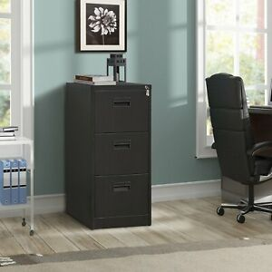 Metal Lateral File Cabinet Steel Vertical Lockable Filing Cabinet 3 drawer With