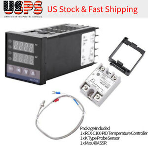 0 1300 Ac110v 240v Digital Led Pid Thermostat Temperature Controller Switch