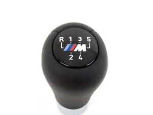 Bmw M Leather Weighted Shift Knob E30 E36 E46 E34 E39 Zhp Oem 5 speed Genuine